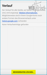 Cache leeren Chrome Android 3