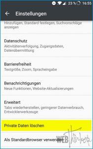 Cache leeren Firefox Android 3
