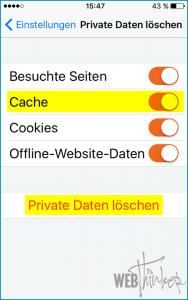 Cache leeren Firefox iOS 4
