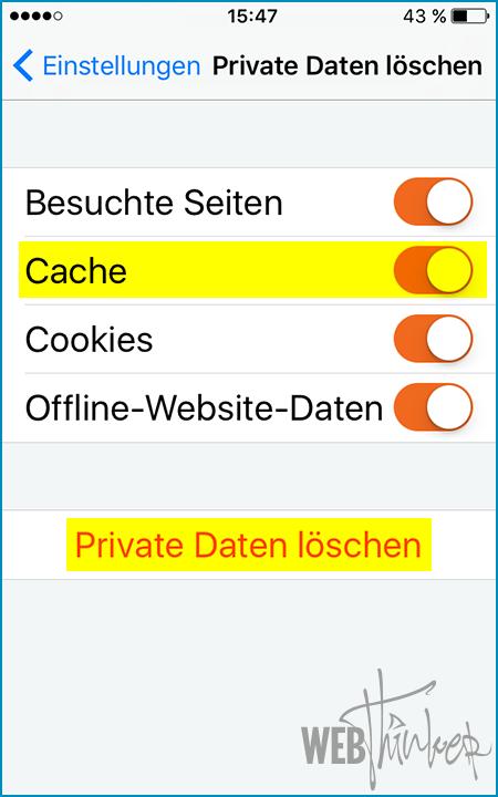 Ipad Cache Leeren