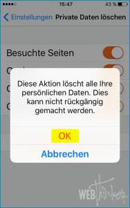 Cache leeren Firefox iOS 5