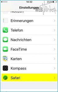 Cache leeren Safari iOS 1