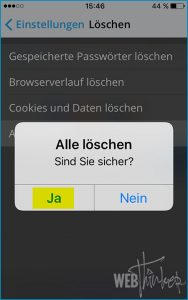Cache leeren Opera iOS 5